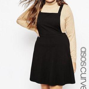 ASOS CURVE Jersey Basic Pinafore Dress mini